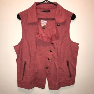 Maurices Coral Rose Vest